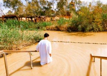 Baptism at the river jordan